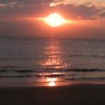 南知多内海・旅館はしもとからみた夕日